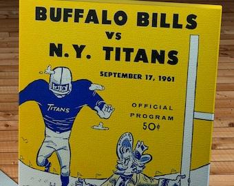 1961 Vintage Buffalo Bills-New York Titans Football Program - Canvas Gallery Wrap
