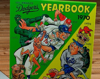 1970 Vintage Los Angeles Dodgers Yearbook - Canvas Gallery Wrap