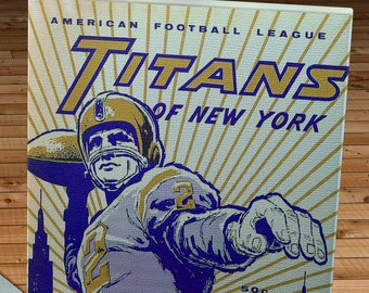 1961 Vintage New York Titans Football Yearbook - Canvas Gallery Wrap