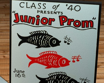 1940 Vintage WPA Poster - Junior Prom - Canvas Gallery Wrap -  10 x 16