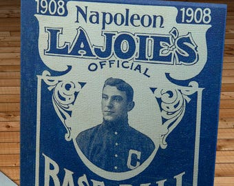 1908 Vintage Napoleon LaJoie's Baseball Guide - Canvas Gallery Wrap -