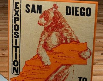 1917 Vintage Exposition San Diego Poster - Canvas Gallery Wrap -  10 x 16
