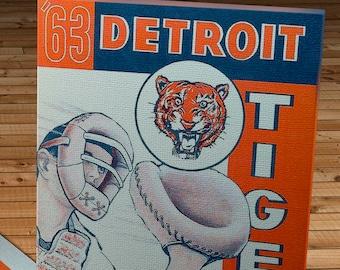 1963 Vintage Detroit Tigers Scorebook - Canvas Gallery Wrap -