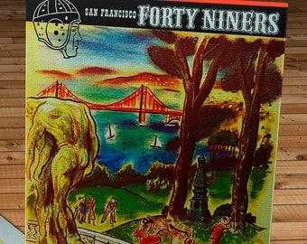 1950 Vintage Philadelphia Eagles - San Francisco 49ers  - Kezar Stadium - Football Program - Canvas Gallery Wrap