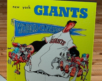 1955 Vintage New York Giants Baseball Yearbook - World Champions - Canvas Gallery Wrap - 12 x 16