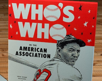 1948 Vintage Who's Who American Association Cover - Canvas Gallery Wrap -
