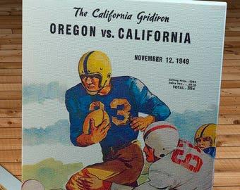 1949 Vintage California Bears - Oregon Ducks Football Program - Canvas Gallery Wrap