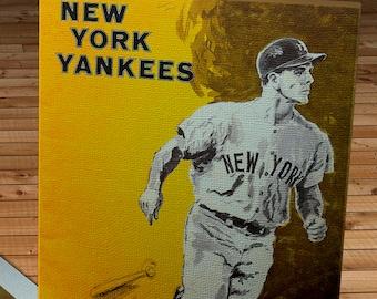 1965 Vintage New York Yankees Yearbook - Canvas Gallery Wrap