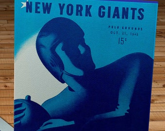1945 Vintage Pittsburgh Steelers - New York Giants Football Program Cover - Canvas Gallery Wrap