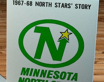 1967-1968 Vintage Minnesota Northstars Yearbook - Canvas Gallery Wrap -  10 x 16
