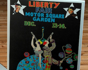 1918 Vintage Liberty Fair Poster - Motor Square Garden - Pittsburgh, PA - Canvas Gallery Wrap