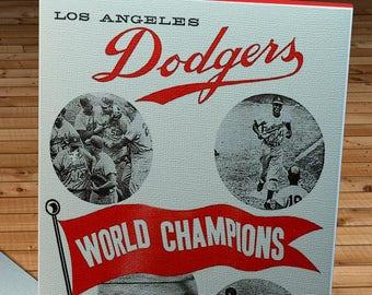 1960 Vintage Los Angeles Dodgers - World Champions Program  - Canvas Gallery Wrap