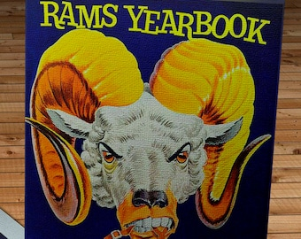 1960 Vintage Los Angeles Rams Football Yearbook - Canvas Gallery Wrap -  14 x 18