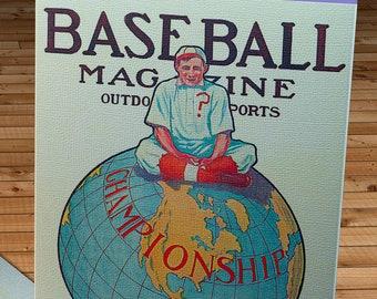 1910 Vintage Baseball Magazine Cover - World Series - Canvas Gallery Wrap