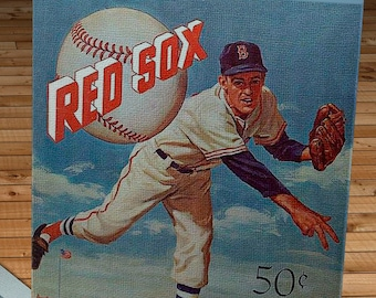 1959 Vintage Boston Red Sox Yearbook - Canvas Gallery Wrap -  14 x 18