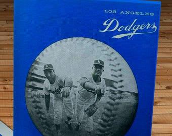 1965 Vintage Los Angeles Dodgers Program - Koufax and Drysdale - Canvas Gallery Wrap