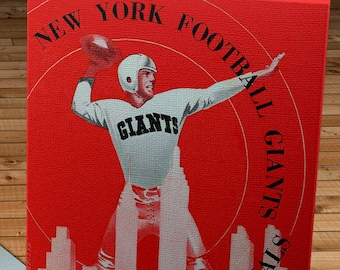 1948 Vintage New York Giants - Chicago Cardinals Football Program - Canvas Gallery Wrap