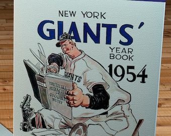 1954 Vintage New York Giants Yearbook - Canvas Gallery Wrap