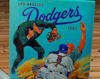 1967 Vintage Los Angeles Dodgers Program - Canvas Gallery Wrap