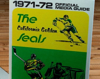 1971-1972 Vintage California Golden Seals Media Guide - Canvas Gallery Wrap -  10 x 16