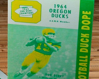 1964 Vintage Duck Dope - University of Oregon Ducks Football - Canvas Gallery Wrap -  10 x 24