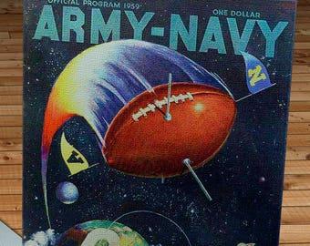 1959 Vintage Army-Navy Football Program - Philadelphia Municipal Stadium - Canvas Gallery Wrap