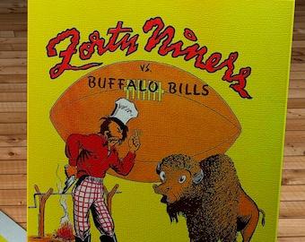 1948 Vintage San Francisco 49ers - Buffalo Bills - Football Program - Canvas Gallery Wrap