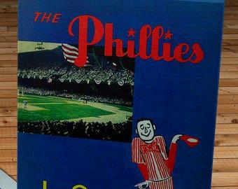 1952 Vintage Philadelphia Phillies Yearbook - Canvas Gallery Wrap