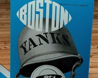 1946 Vintage Boston Yanks - Pittsburgh Steelers Football Program Cover - Canvas Gallery Wrap