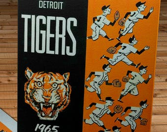 1965 Vintage Detroit Tigers Spring Training Guide - Canvas Gallery Wrap
