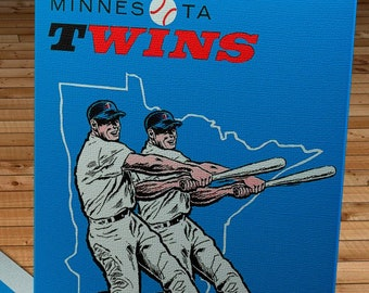 1961 Vintage Minnesota Twins Yearbook - Canvas Gallery Wrap   #BB150