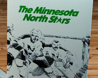 1979-1980 Vintage Minnesota North Stars Media Guide - Canvas Gallery Wrap -  11 x 18