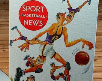 1949- 1950 Vintage Boston Celtics Basketball Program Canvas Gallery Wrap