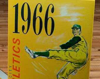 1966 Vintage Kansas City Athletics Yearbook - Canvas Gallery Wrap