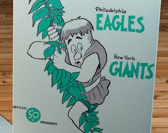 1963 Vintage Philadelphia Eagles - New York Giants Football Program - Canvas Gallery Wrap