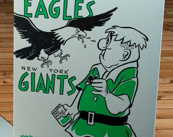 1960 Vintage Philadelphia Eagles - New York Giants Football Program - Canvas Gallery Wrap