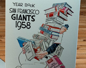 1958 Vintage San Francisco Giants Yearbook - Canvas Gallery Wrap - 12 x 14