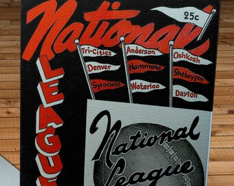 1949-1950 Vintage Syracuse Nationals Basketball Program - Canvas Gallery Wrap