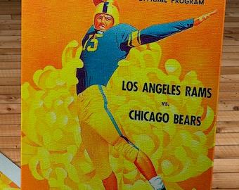 1952 Vintage Los Angeles Rams - Chicago Bears Football Program - Canvas Gallery Wrap