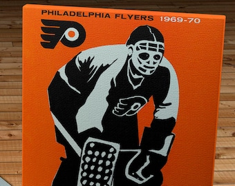 1969-1970 Vintage Philadelphia Flyers Hockey Media Guide - Canvas Gallery Wrap   #IH002
