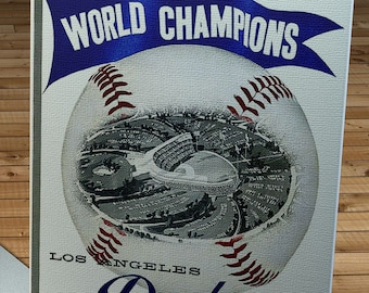 1960 Vintage Los Angeles Dodgers Yearbook - World Champions - Canvas Gallery Wrap   #BB428