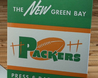 1950 Vintage Green Bay Packers Football Media Guide - Canvas Gallery Wrap   #FB060
