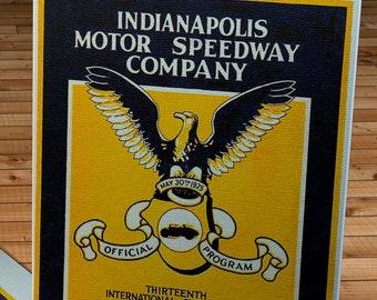 1925 Vintage Indianapolis 500 Racing Program - Canvas Gallery Wrap   #MS026