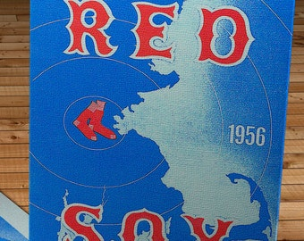 1956 Vintage Red Sox Baseball Scorecard - Canvas Gallery Wrap - 11 x 18 #BB422