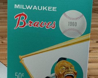 1960 Vintage Milwaukee Braves Yearbook - Canvas Gallery Wrap   #BB457