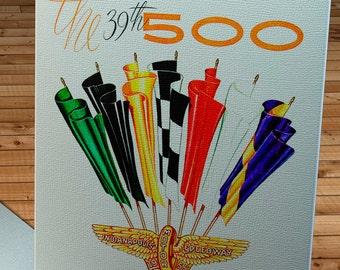 1955 Vintage Indianapolis 500 Racing Program - Canvas Gallery Wrap - 14 x 18  #MS025