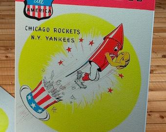1948 Vintage Chicago Rockets Football Program - Canvas Gallery Wrap   #FB51