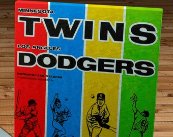 1965 Vintage Minnesota Twins - Los Angeles Dodgers World Series Program - Canvas Gallery Wrap  #BB300