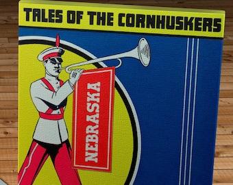 1941 Vintage Iowa Hawkeyes  - Nebraska Cornhuskers Football Program Cover - Canvas Gallery Wrap