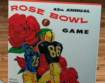 1959 Vintage Rose Bowl - Iowa Hawkeyes - California Bears Football Program Cover - Canvas Gallery Wrap